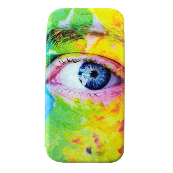 Husa Flip Carte Cu Magnet Lux Upzz Art Huawei P20 Lite Eyes imagine itelmobile.ro 2021