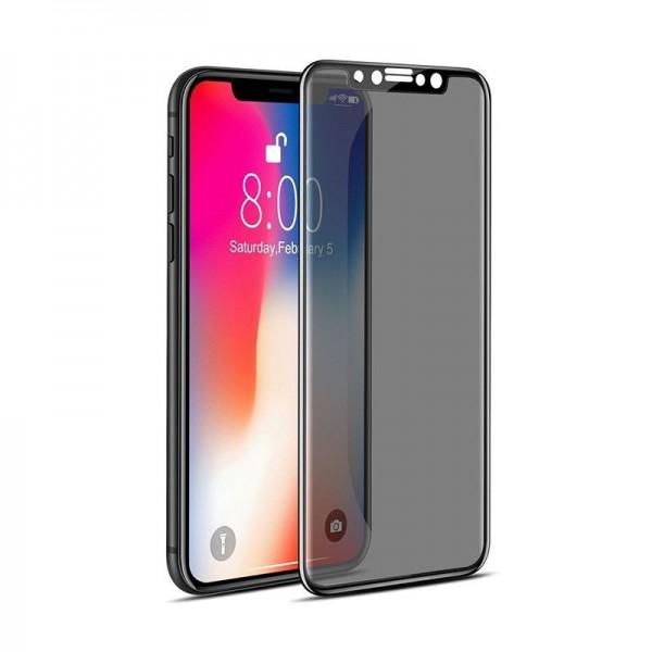 Folie Sticla Full Cover Privacy Premium Mr.monkey iPhone Xs/x Cu Adeziv Pe Toata Suprafata