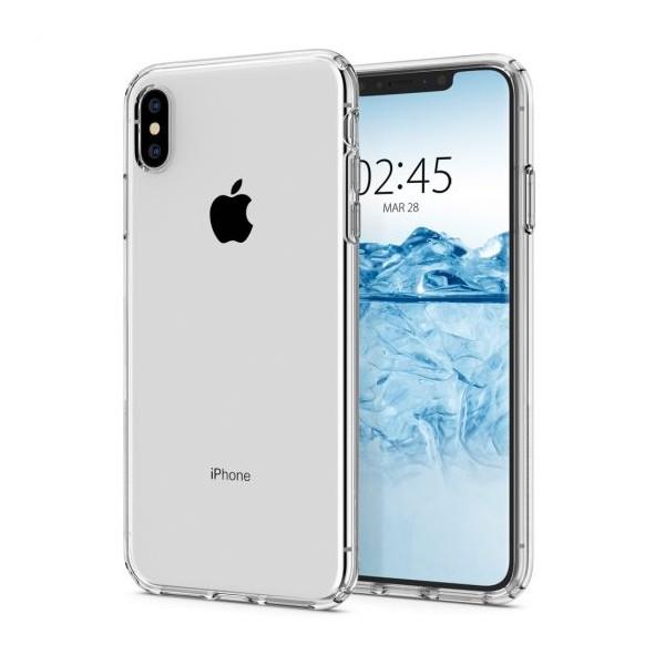 Husa Premium Originala Spigen Liquid Crystal iPhone Xs Silicon Transparent imagine itelmobile.ro 2021