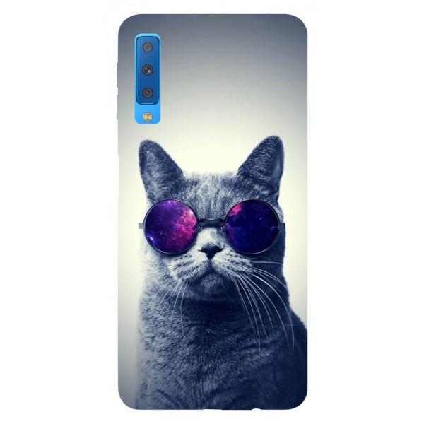 Husa Silicon Soft Upzz Print Samsung Galaxy A7 2018 Model Cool Cat imagine itelmobile.ro 2021