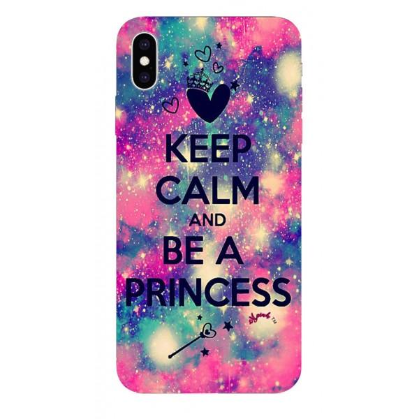 Husa Silicon Soft Upzz Print iPhone Xs Max Model Be Princess imagine itelmobile.ro 2021