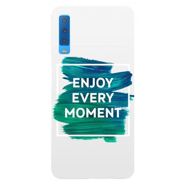 Husa Silicon Soft Upzz Print Samsung Galaxy A7 2018 Model Enjoy imagine itelmobile.ro 2021