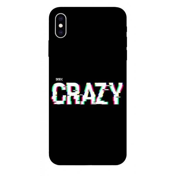 Husa Silicon Soft Upzz Print iPhone Xs Max Model Crazy imagine itelmobile.ro 2021