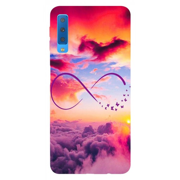 Husa Silicon Soft Upzz Print Samsung Galaxy A7 2018 Model Infinity imagine itelmobile.ro 2021