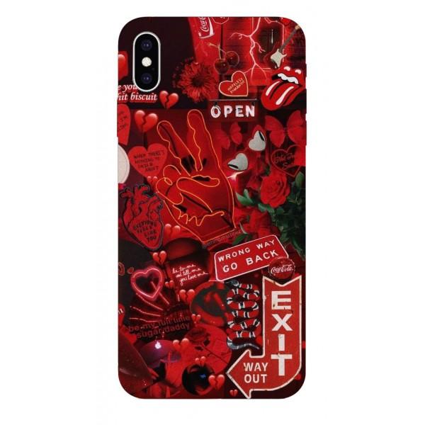 Husa Silicon Soft Upzz Print iPhone Xs Max Model Exit imagine itelmobile.ro 2021