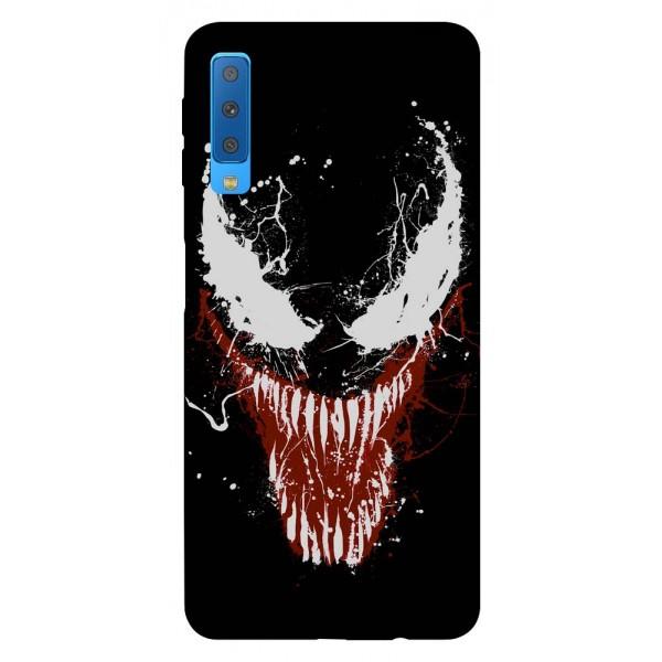 Husa Silicon Soft Upzz Print Samsung Galaxy A7 2018 Model Monster imagine itelmobile.ro 2021