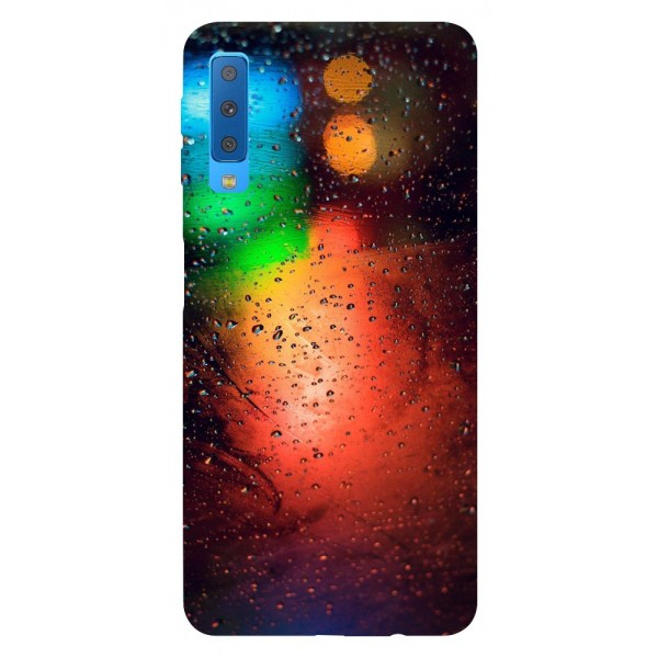 Husa Silicon Soft Upzz Print Samsung Galaxy A7 2018 Model Multicolor imagine itelmobile.ro 2021