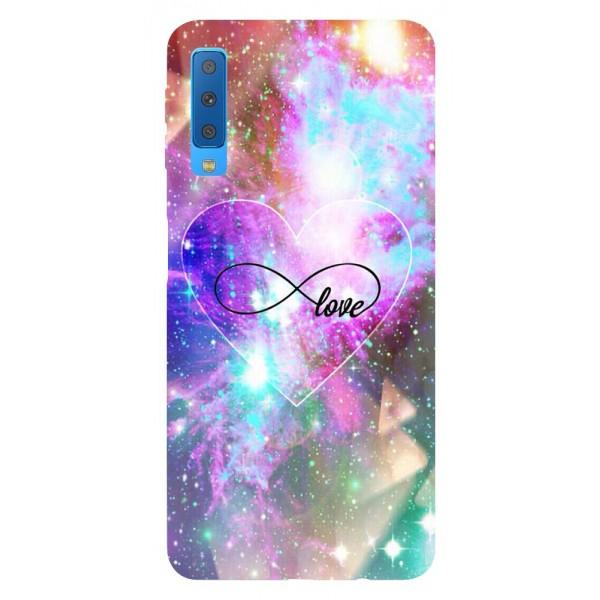 Husa Silicon Soft Upzz Print Samsung Galaxy A7 2018 Model Neon Love imagine itelmobile.ro 2021