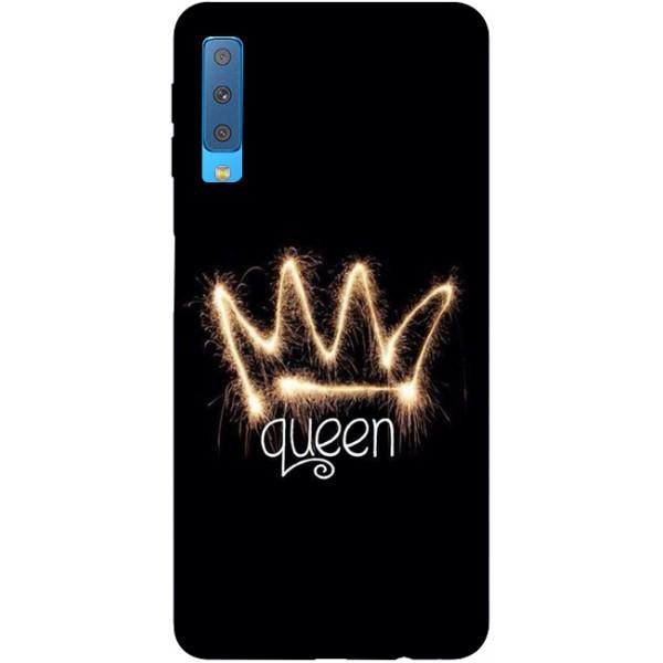 Husa Silicon Soft Upzz Print Samsung Galaxy A7 2018 Model Queen imagine itelmobile.ro 2021