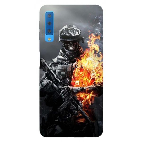 Husa Silicon Soft Upzz Print Samsung Galaxy A7 2018 Model Soldier imagine itelmobile.ro 2021