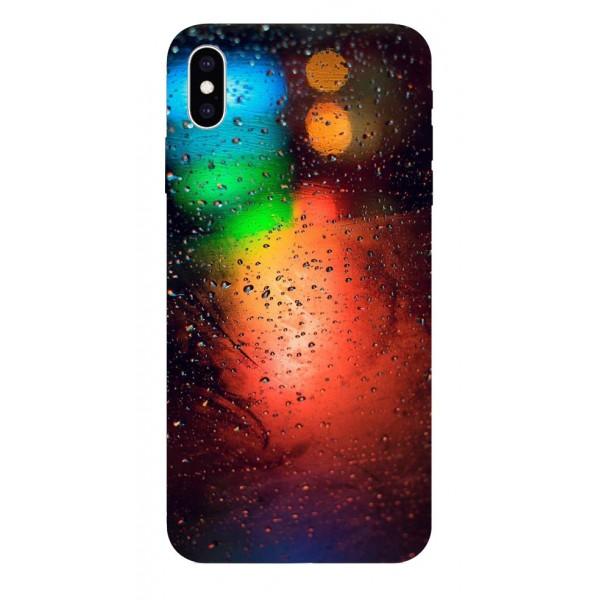 Husa Silicon Soft Upzz Print iPhone Xs Max Model Multicolor imagine itelmobile.ro 2021