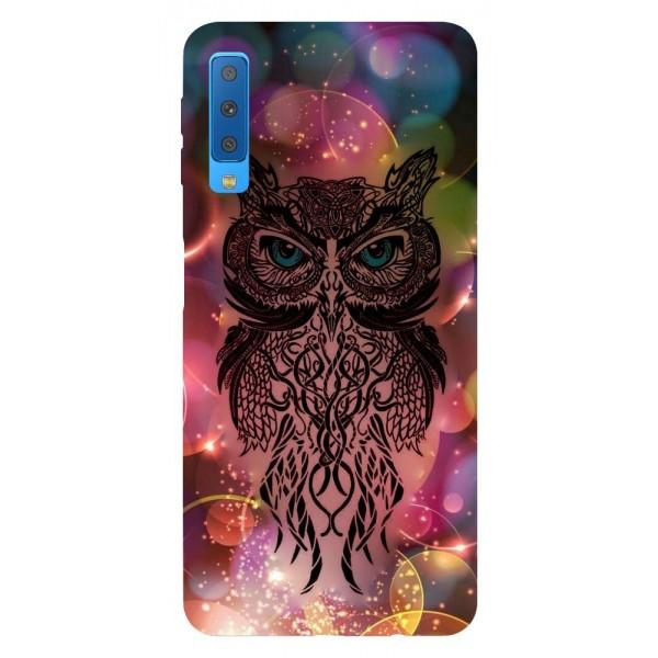 Husa Silicon Soft Upzz Print Samsung Galaxy A7 2018 Model Sparkle Owl imagine itelmobile.ro 2021