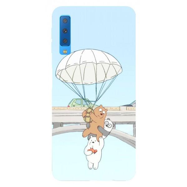 Husa Silicon Soft Upzz Print Samsung Galaxy A7 2018 Model Three Bears imagine itelmobile.ro 2021