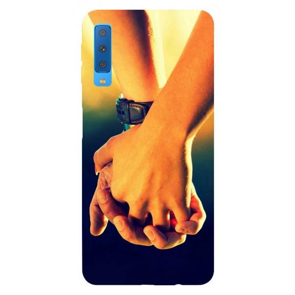 Husa Silicon Soft Upzz Print Samsung Galaxy A7 2018 Model Together imagine itelmobile.ro 2021