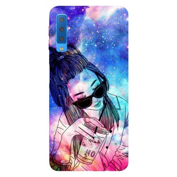 Husa Silicon Soft Upzz Print Samsung Galaxy A7 2018 Model Univers Girl imagine itelmobile.ro 2021
