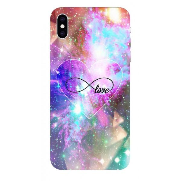 Husa Silicon Soft Upzz Print iPhone Xs Max Model Neon Love imagine itelmobile.ro 2021