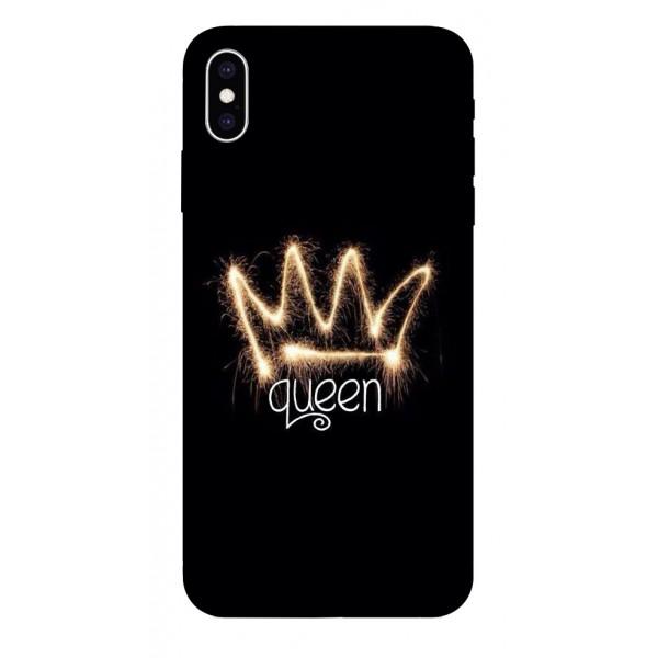 Husa Silicon Soft Upzz Print iPhone Xs Max Model Queen imagine itelmobile.ro 2021