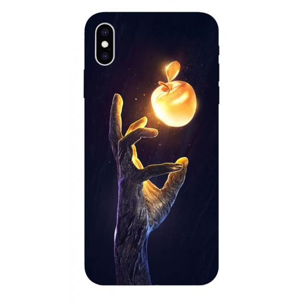 Husa Silicon Soft Upzz Print iPhone Xs Max Model Reach imagine itelmobile.ro 2021