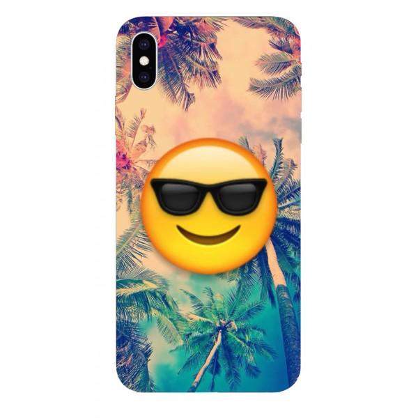 Husa Silicon Soft Upzz Print iPhone Xs Max Model Smile imagine itelmobile.ro 2021