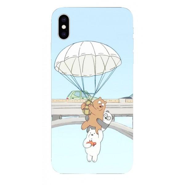 Husa Silicon Soft Upzz Print iPhone Xs Max Model Three Bears imagine itelmobile.ro 2021