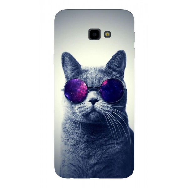 Husa Silicon Soft Upzz Print Samsung J4+ Plus 2018 Model Cool Cat imagine itelmobile.ro 2021
