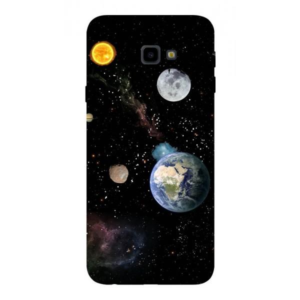 Husa Silicon Soft Upzz Print Samsung J4+ Plus 2018 Model Earth imagine itelmobile.ro 2021
