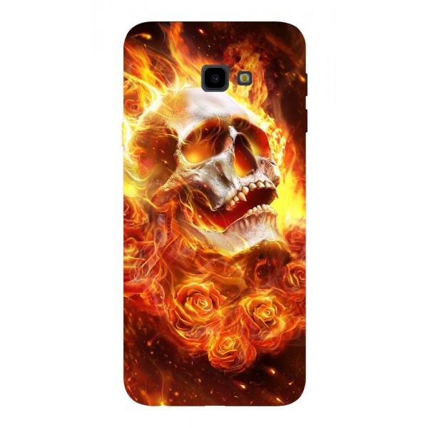 Husa Silicon Soft Upzz Print Samsung J4+ Plus 2018 Model Flame Skull imagine itelmobile.ro 2021