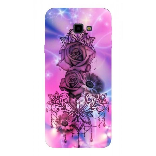 Husa Silicon Soft Upzz Print Samsung J4+ Plus 2018 Model Neon Rose imagine itelmobile.ro 2021