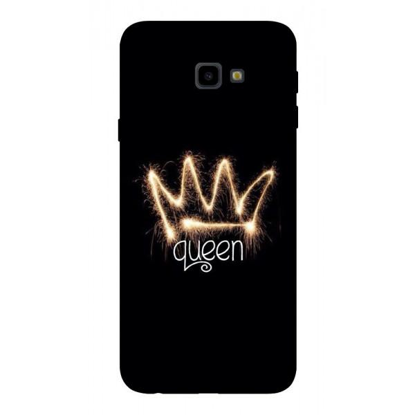 Husa Silicon Soft Upzz Print Samsung J4+ Plus 2018 Model Queen imagine itelmobile.ro 2021