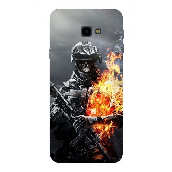 Husa Silicon Soft Upzz Print Samsung J4+ Plus 2018 Model Soldier imagine itelmobile.ro 2021
