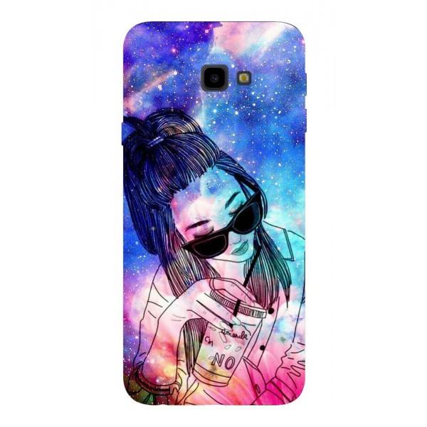 Husa Silicon Soft Upzz Print Samsung J4+ Plus 2018 Model Univers Girl imagine itelmobile.ro 2021