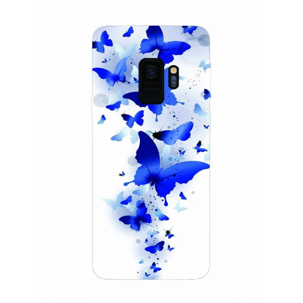 Husa Silicon Soft Upzz Print Samsung Galaxy S9 Model Blue Butterflys imagine itelmobile.ro 2021