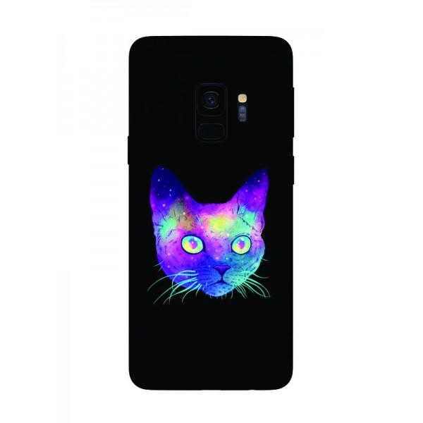 Husa Silicon Soft Upzz Print Samsung Galaxy S9 Model Neon Cat imagine itelmobile.ro 2021