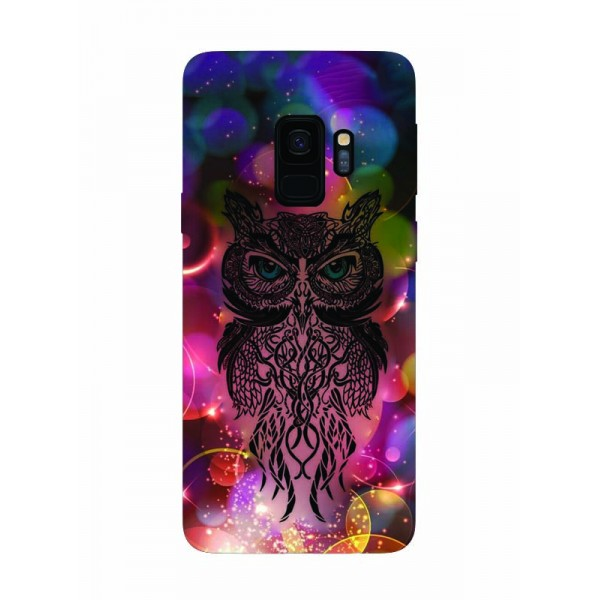 Husa Silicon Soft Upzz Print Samsung Galaxy S9 Model Sparkle Owl imagine itelmobile.ro 2021