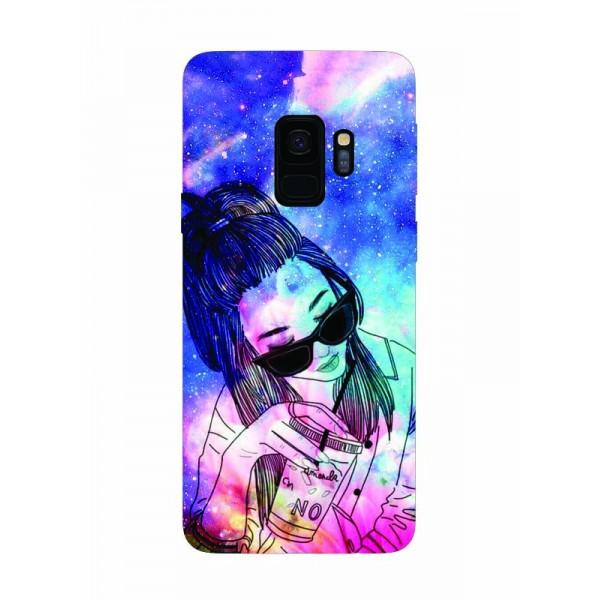 Husa Silicon Soft Upzz Print Samsung Galaxy S9 Model Univers Girl imagine itelmobile.ro 2021