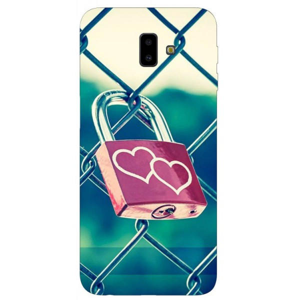 Husa Silicon Soft Upzz Print Samsung J6+ Plus 2018 Model Heart Lock imagine itelmobile.ro 2021