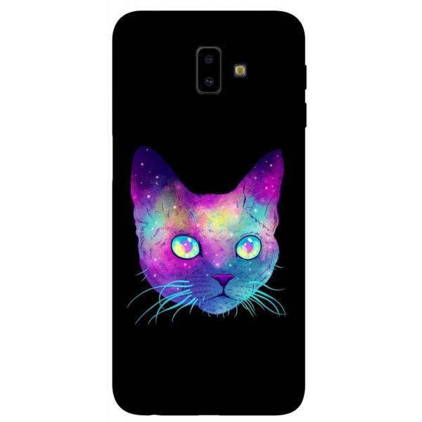 Husa Silicon Soft Upzz Print Samsung J6+ Plus 2018 Model Neon Cat imagine itelmobile.ro 2021