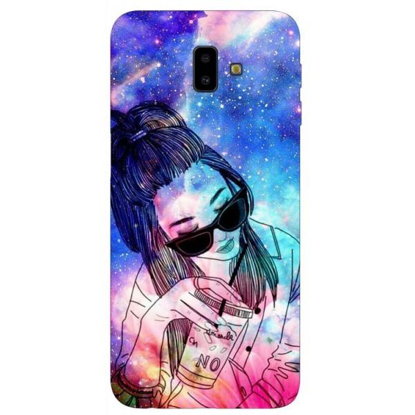 Husa Silicon Soft Upzz Print Samsung J6+ Plus 2018 Universe Girl imagine itelmobile.ro 2021