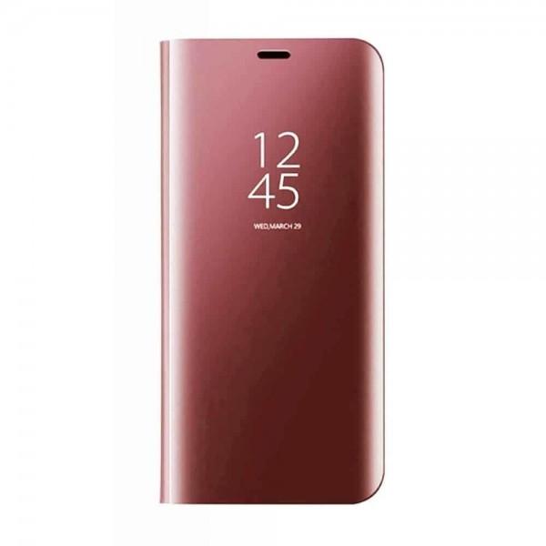 Husa Tip Carte Mirror Samsung Galaxy S10+ Plus Rose Gold imagine itelmobile.ro 2021