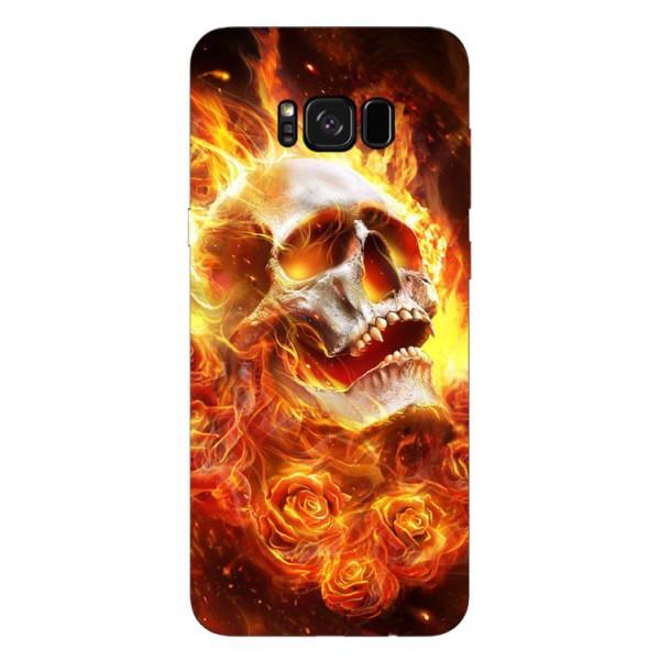 Husa Silicon Soft Upzz Print Samsung S8+ Plus Flame Skull imagine itelmobile.ro 2021