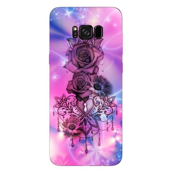 Husa Silicon Soft Upzz Print Samsung S8+ Plus Neon Rose imagine itelmobile.ro 2021