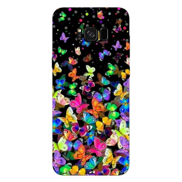 Husa Silicon Soft Upzz Print Samsung Galaxy S8 Model Colorature imagine itelmobile.ro 2021