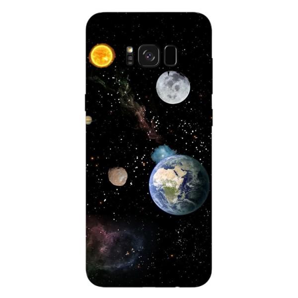 Husa Silicon Soft Upzz Print Samsung Galaxy S8 Model Earth imagine itelmobile.ro 2021