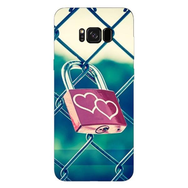 Husa Silicon Soft Upzz Print Samsung Galaxy S8 Model Heart Lock imagine itelmobile.ro 2021