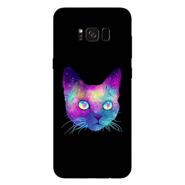 Husa Silicon Soft Upzz Print Samsung Galaxy S8 Model Neon Cat imagine itelmobile.ro 2021