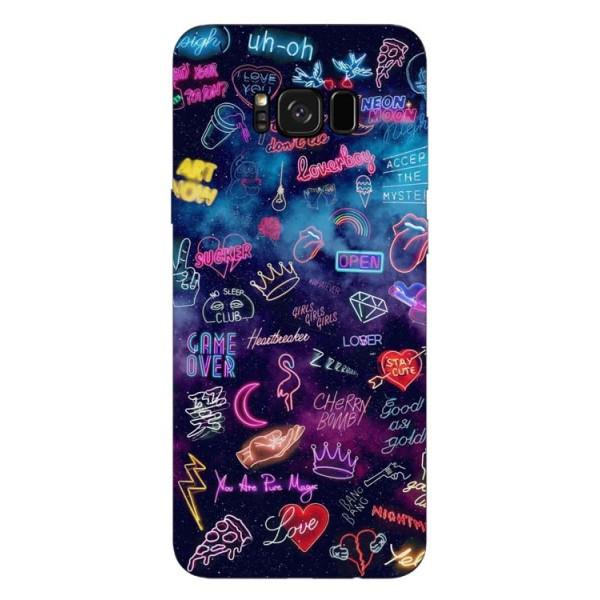 Husa Silicon Soft Upzz Print Samsung Galaxy S8 Model Neon imagine itelmobile.ro 2021
