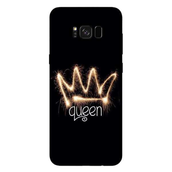 Husa Silicon Soft Upzz Print Samsung Galaxy S8 Model Queen imagine itelmobile.ro 2021