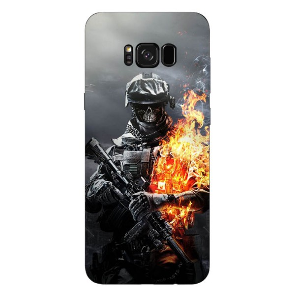 Husa Silicon Soft Upzz Print Samsung Galaxy S8 Model Soldier imagine itelmobile.ro 2021
