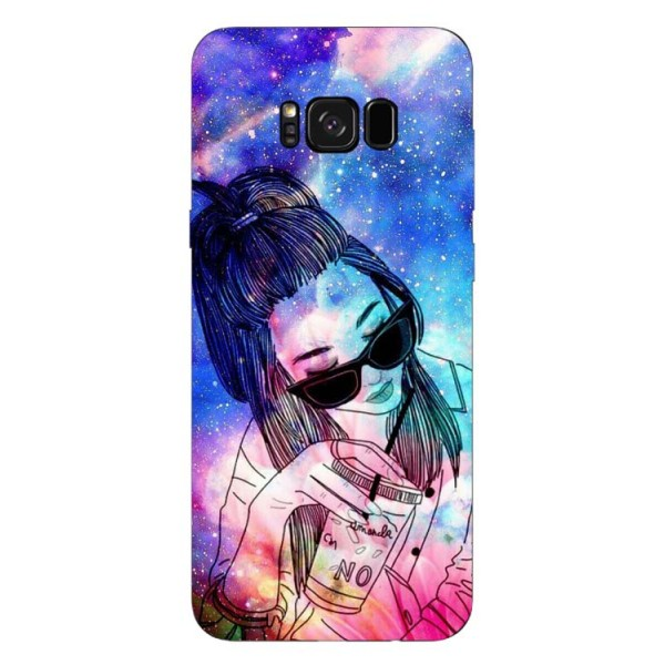 Husa Silicon Soft Upzz Print Samsung Galaxy S8 Model Univers Girl imagine itelmobile.ro 2021