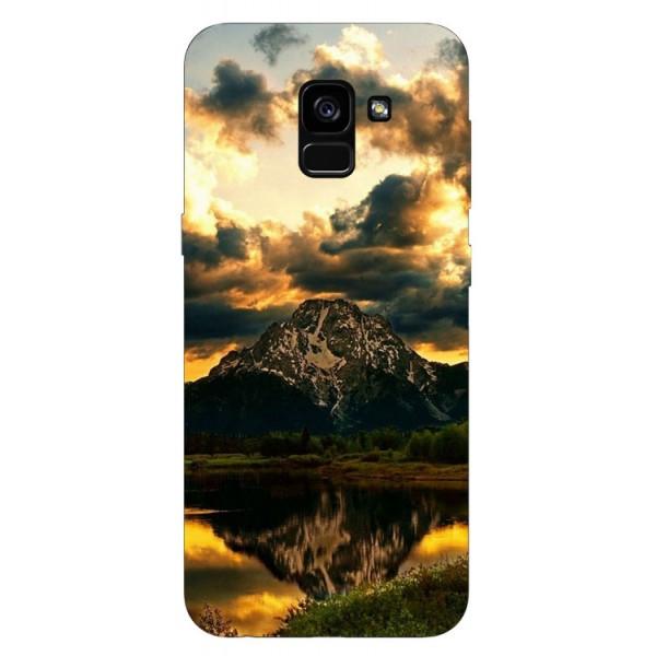 Husa Silicon Soft Upzz Print Samsung Galaxy A8 2018 Model Apus imagine itelmobile.ro 2021
